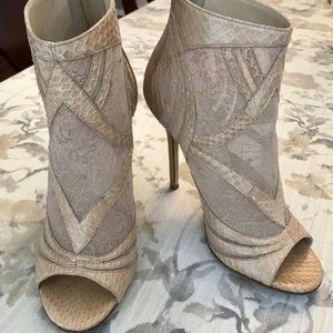 EUC Auth Jimmy Choo Nexus Lace Leather Booties, 37